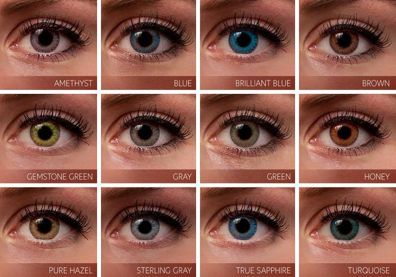 Название цветов глаз с фото