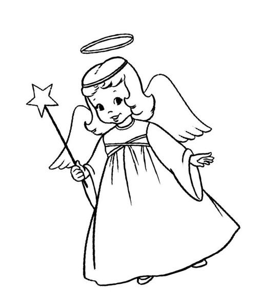 Картинка ангелочка раскраска, днем рождения племяннику