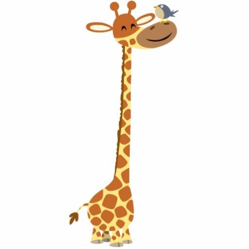 Поздравлению дню, картинки жираф прикольные мультяшные