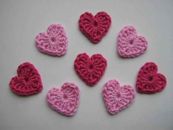 схемы вязания сердечек