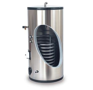 Бойлер косвенного нагрева из нержавеющей стали с двумя теплообменниками теплообменник эт-022