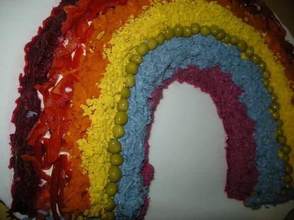 Салаты с фото радуга