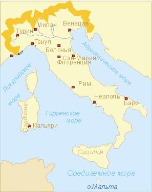 дал какие моря омывают италию карта актуальные вакансии всего