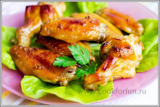 фото рецепты крылышек в горчично медовом соусе
