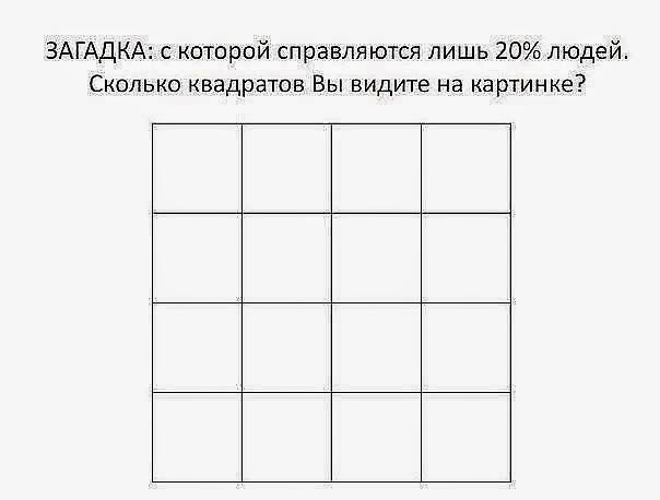 тест сколько вы видите квадратов на картинке что