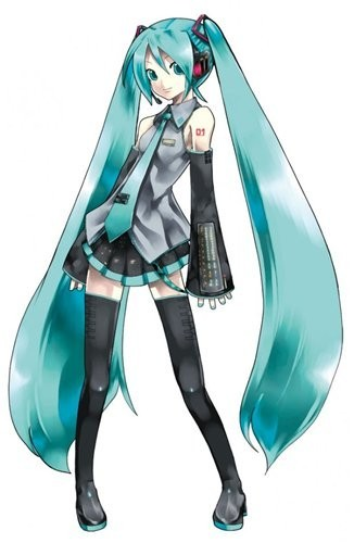 картинки аниме с синими волосами