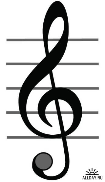 картинки ключа скрипичного