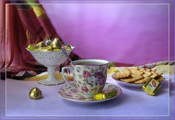 Картинки чай с конфетами