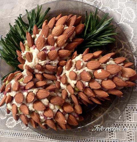 Салат Еловые шишки  Вкусно и полезно