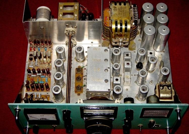 радиостанция на лампе схема фото печать тарелках