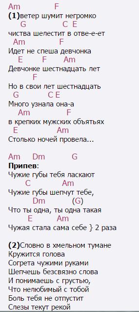 Ты моя такая, ты моя такая, ты моя такая.