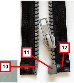 Как вставить бегунок в молнию на сумке