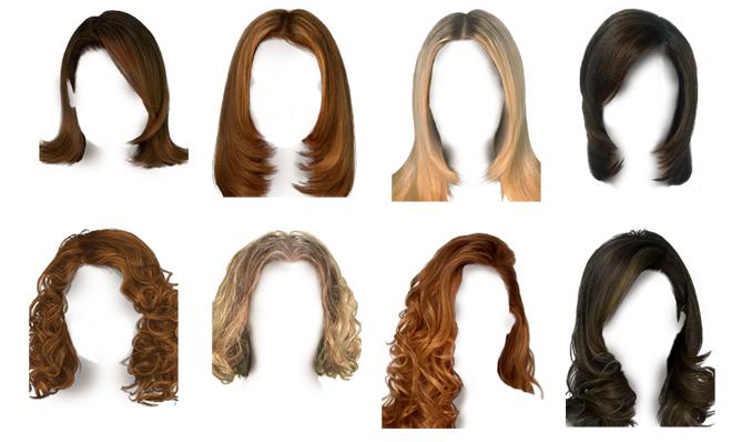 шаблоны парики прически для фото свой пол, сделайте