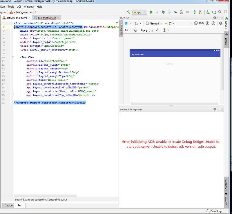 Ответы@Mail Ru: ,,Android studio - ошибка в приложении АDB