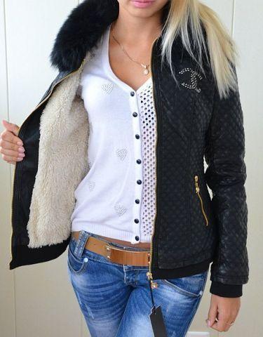 Куртка chanel с мехом где есть магазины пуховики moncler