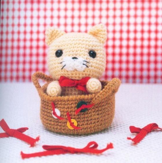 Вязание крючком игрушки амигуруми кошки 55