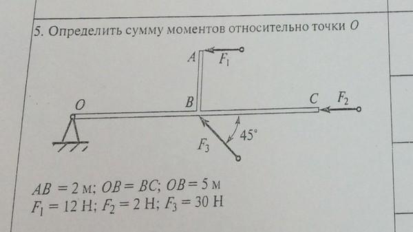 должно как найти момент относительно точки подробнее модели