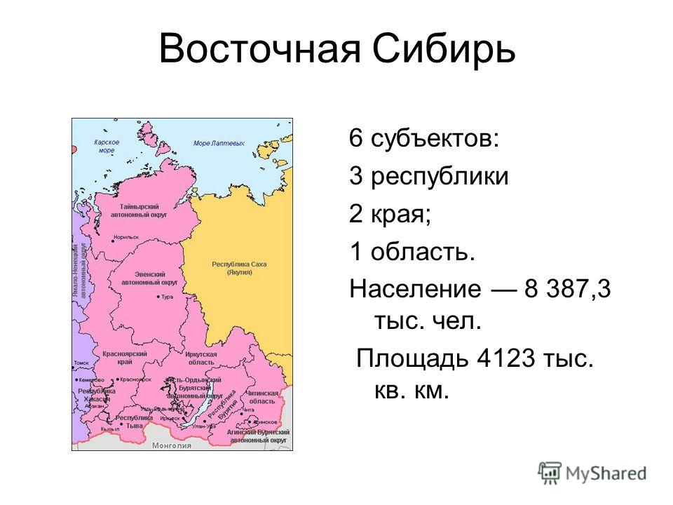Сибирь в картинках по областям