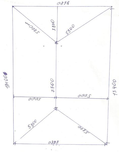 как высчитать квадратуру крыши