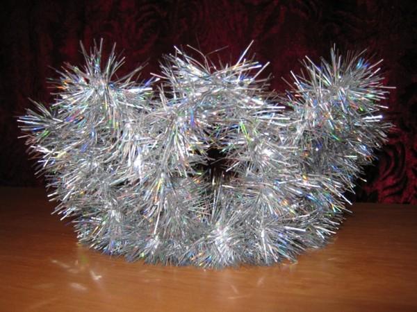 Как сделать корону снежинки из проволоки