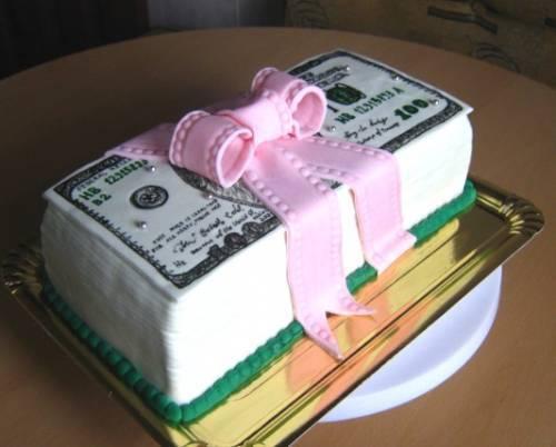 Фото торт с долларами