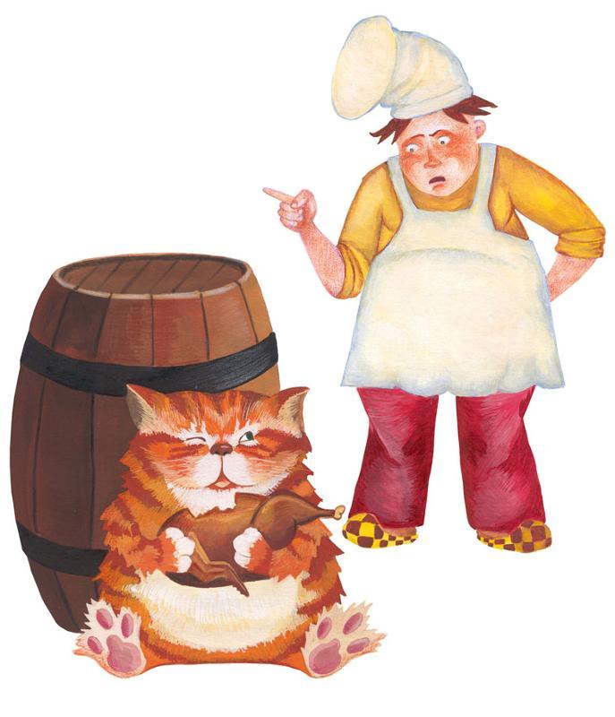 Кот и повар басня крылова картинки к басням крылова