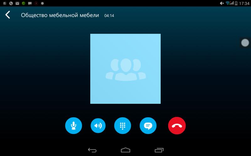 Картинка скайпа во время звонка