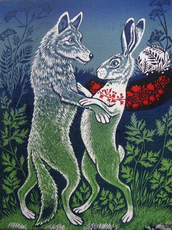 картинки волк с зайцем вовсе