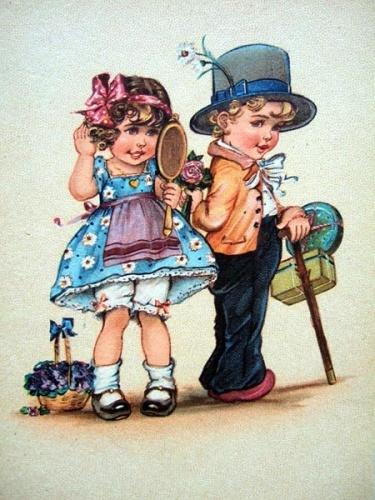 Девочка с мальчиком открытки, прикольными зверями