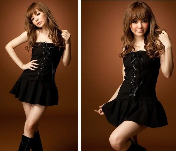 Платье с корсажем и пышной юбкой