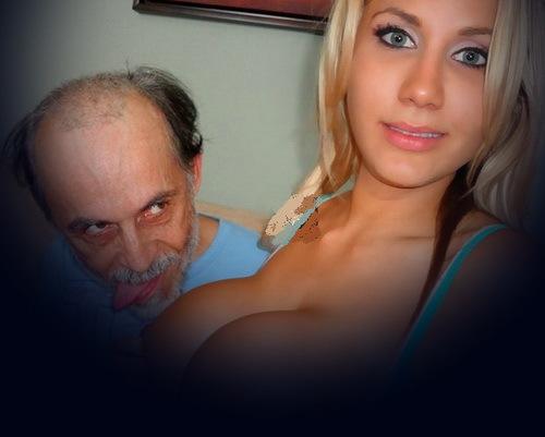 со большой грудью девушка видео с стариком