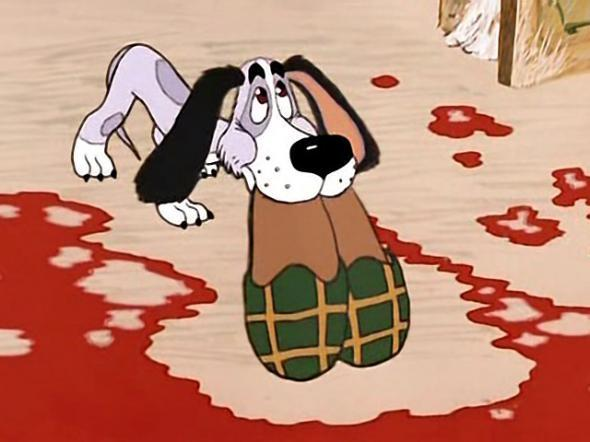 картинки собака с тапками каскад