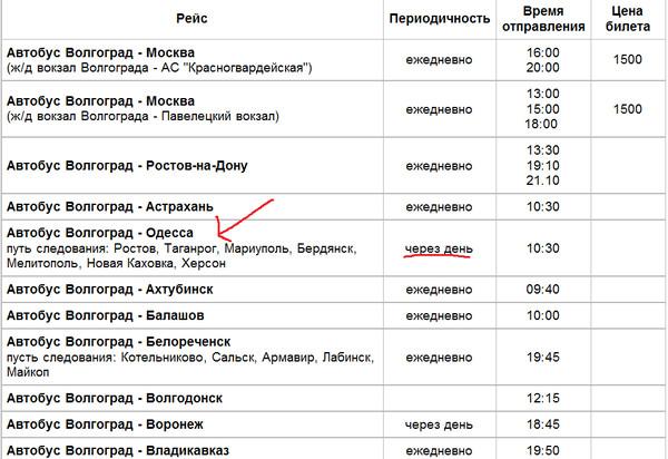 расписание рейсовые автобусы москва волгоград обладает