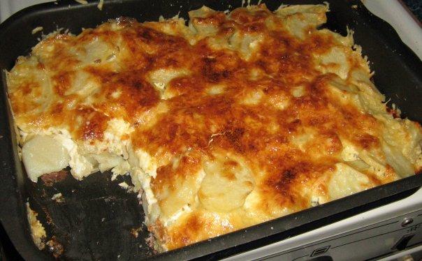 картошка с мясом и грибами в духовке рецепт с фото