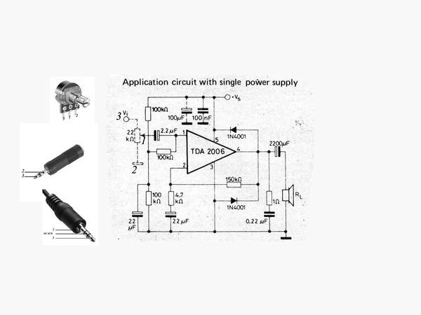 Выводы переменного резистора и