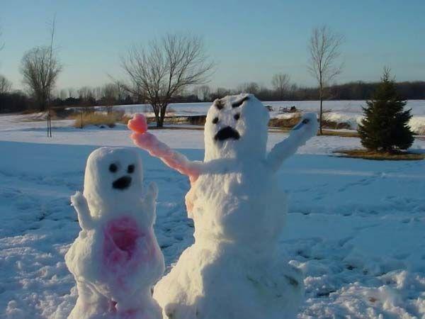 Лепи снеговика секс запомнишь
