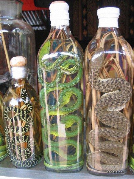 рисовая водка змея мамба женьшень