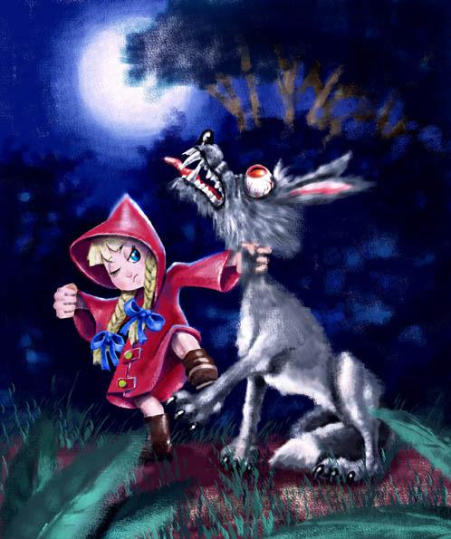 Картинки красная шапочка и серый волк прикольные картинки