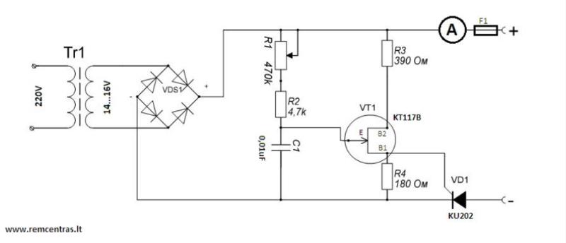 Автоматическое импульсное зарядное устройство для