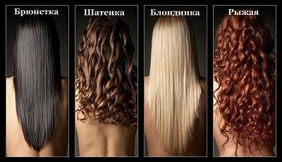 Какие бывают цвет волос