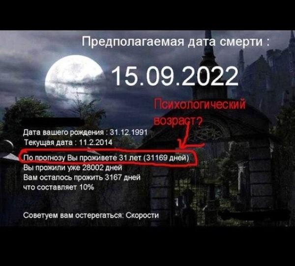 установила даты смерти