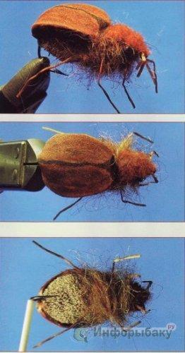 вязание жуков для нахлыста видео
