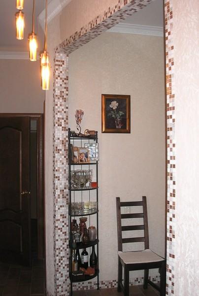 арки из мозаики в квартире через