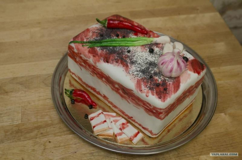 Торт сало из мастики