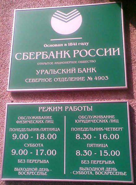 Сбербанк в Москве Отделения адреса режим время график