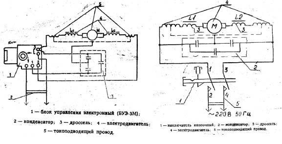 схема советской электродрели