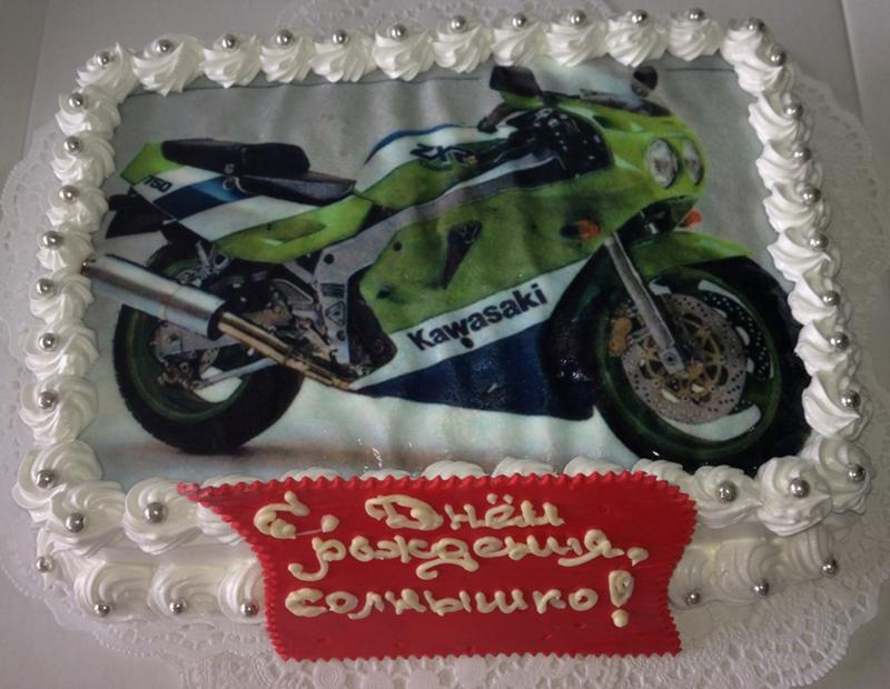 Фото с мотоциклом тортики