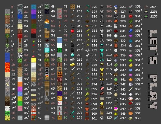 id предметов minecraft 1.7.2 #11