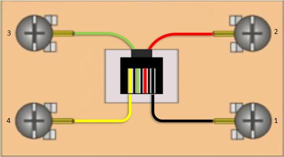 Телефонная розетка rj-11 схема подключения