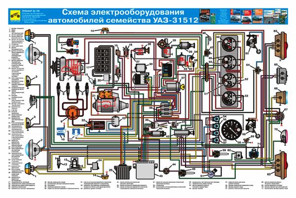Электрическая схема уаз в картинках